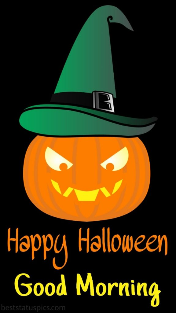 Funny happy halloween good morning 2021 with pumpkin images