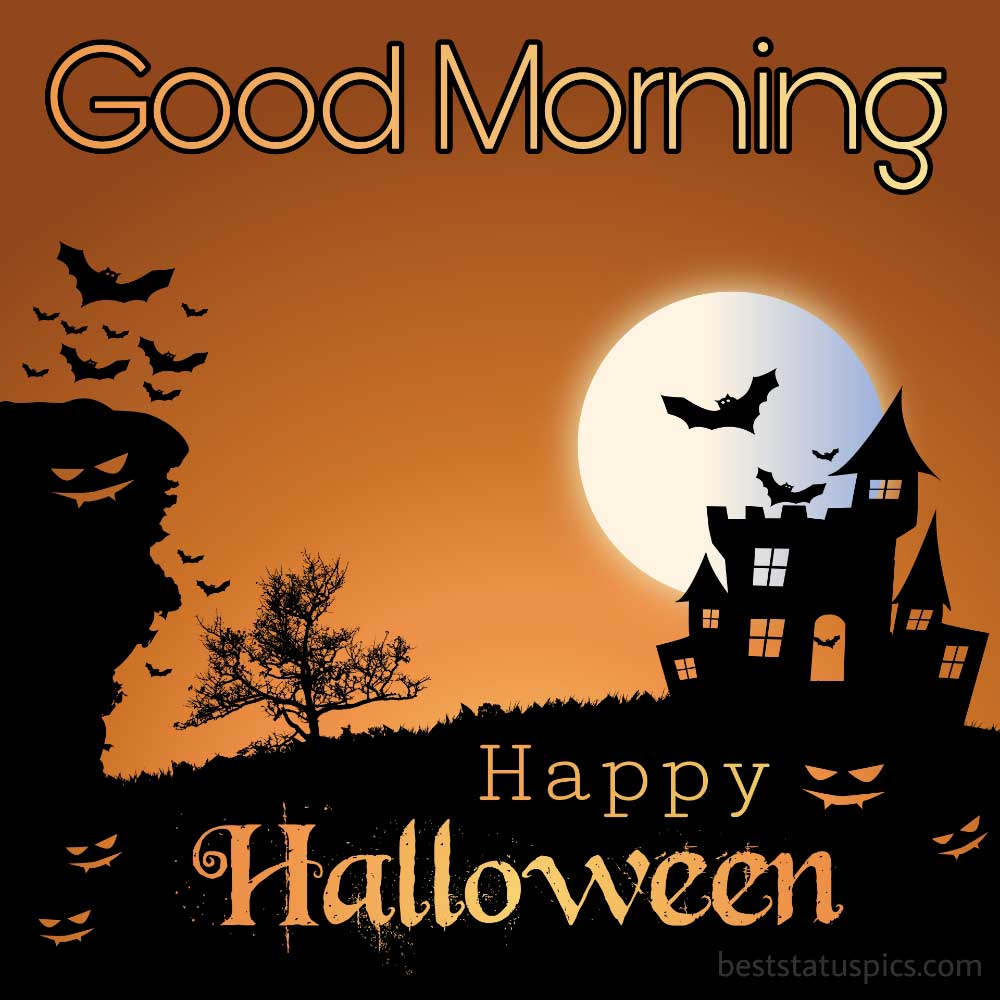 Good morning happy halloween 2021 images HD