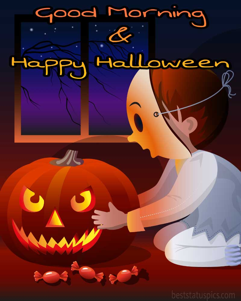 good morning happy halloween 2021 cute pictures