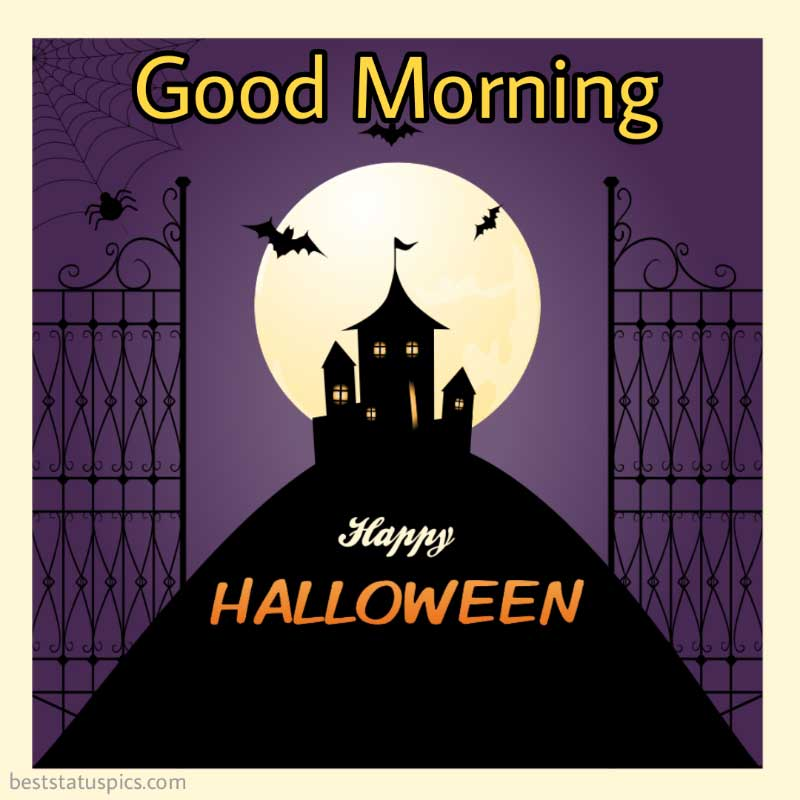cute good morning happy halloween 2021 wishes