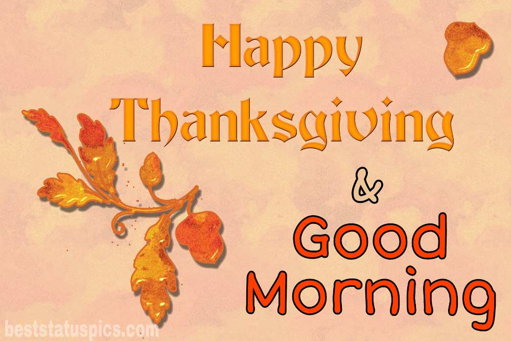 Good morning Happy thanksgiving 2021 wishes photo