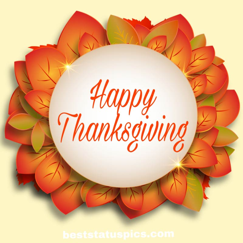 Beautiful Happy thanksgiving Good morning 2021 wishes image
