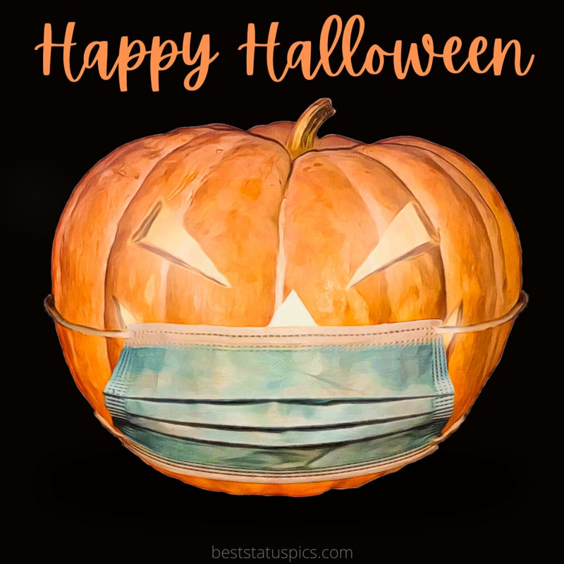 Happy Halloween 2021 wishes images with mask