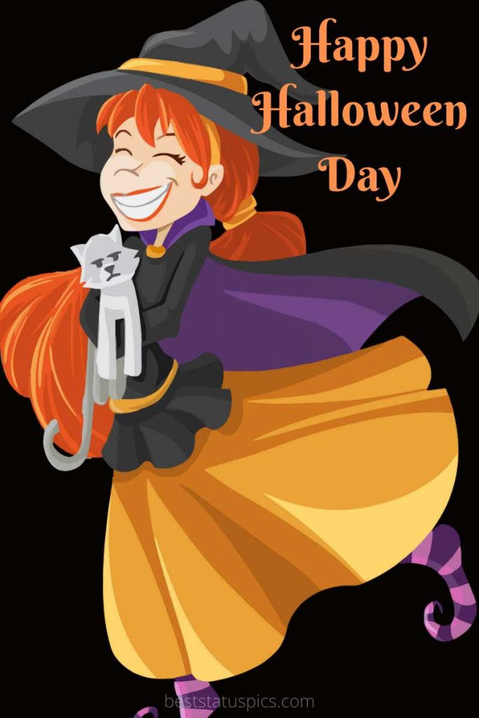 Happy Halloween Day 2021 images with cats