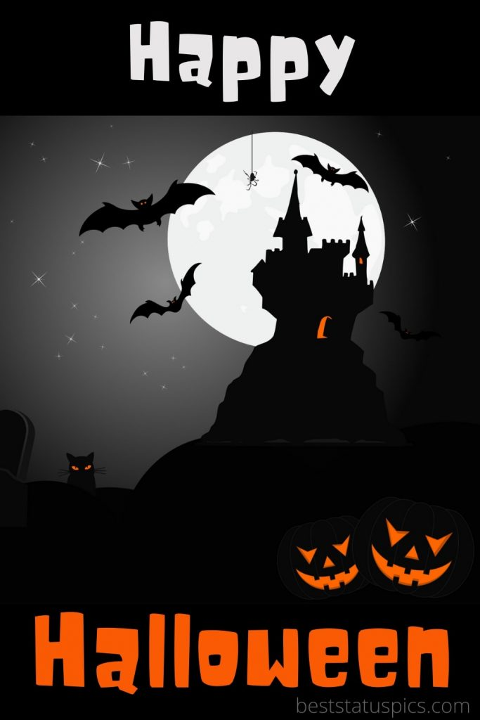 Scary happy halloween 2021 wishes images