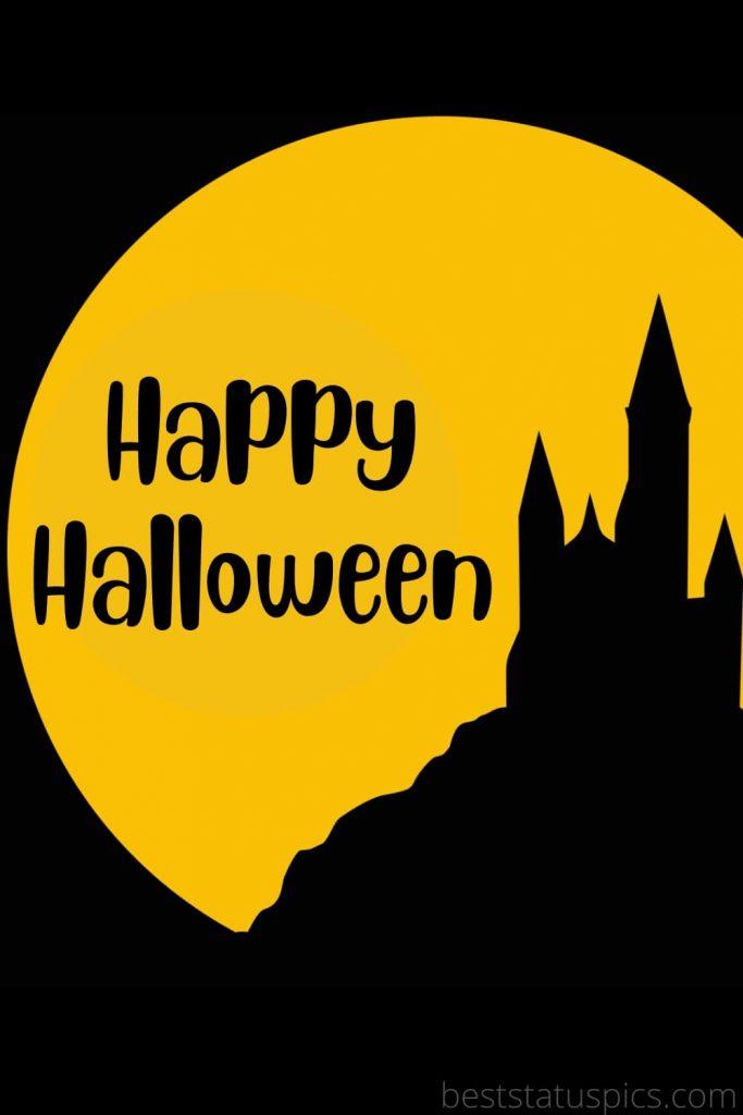 Happy Halloween 2021 greeting card