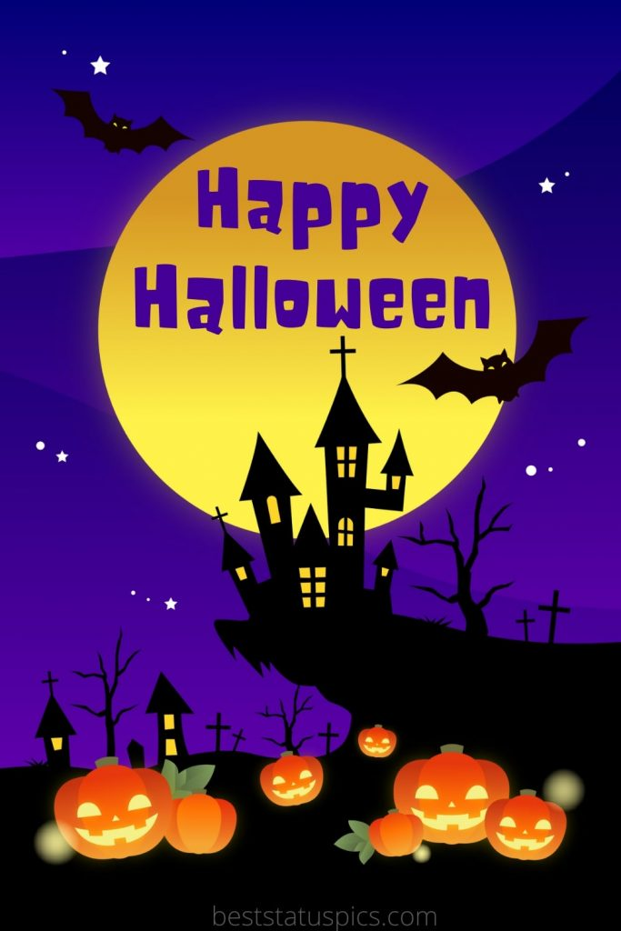 Happy halloween 2021 images with moon