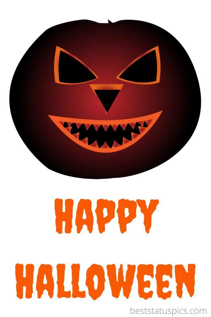 Happy halloween 2021 with pumpkin photo
