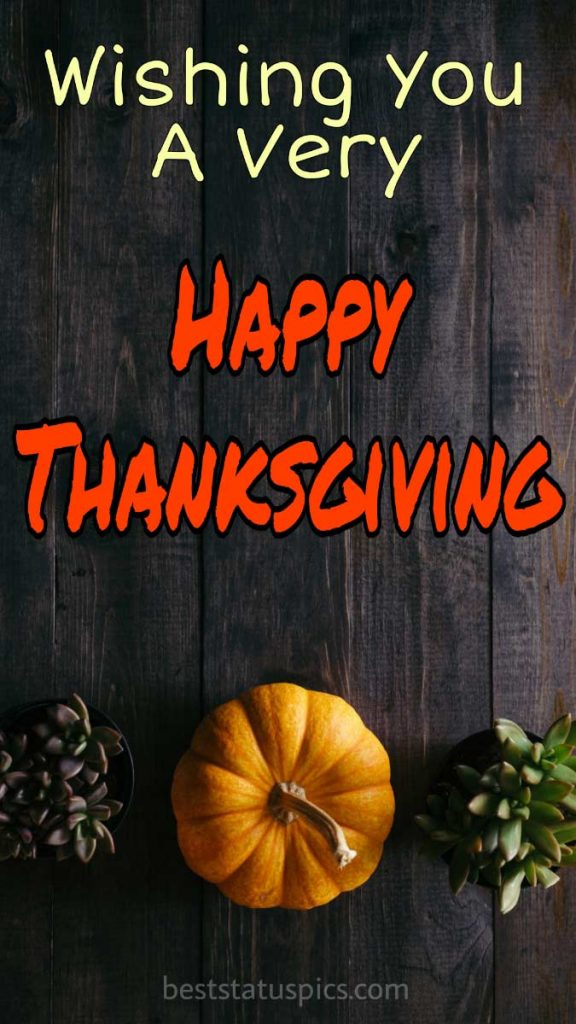 Happy Thanksgiving 2021 image for Whatsapp DP