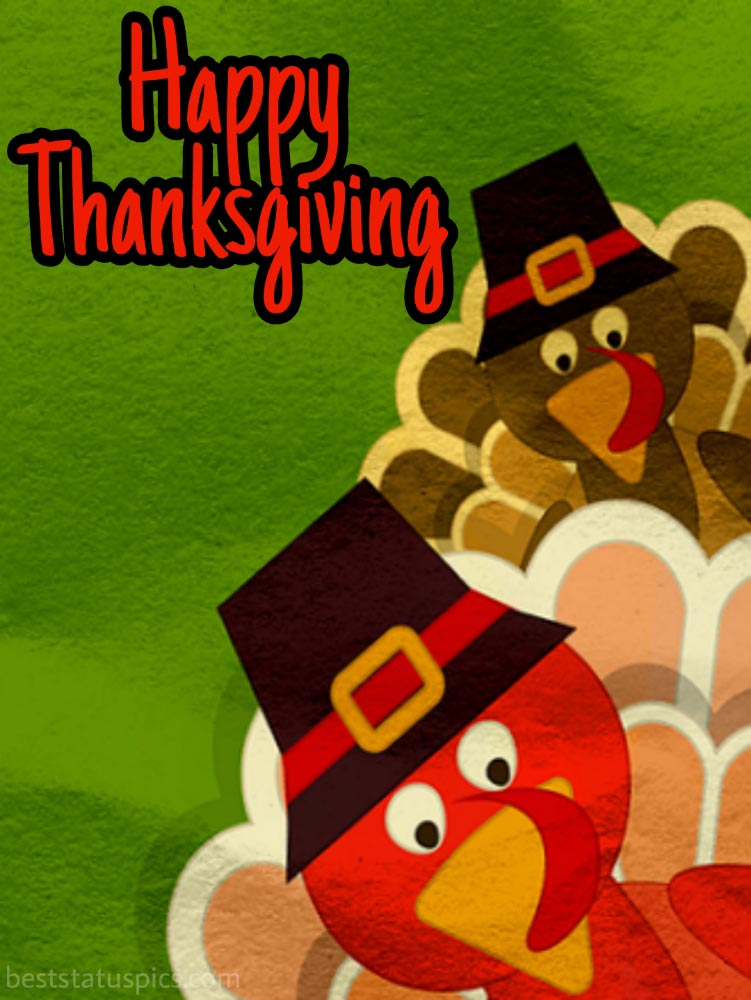Happy Thanksgiving 2021 greetings with turkey pic