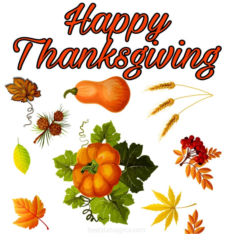 Happy Thanksgiving 2021 wishes image with fruits
