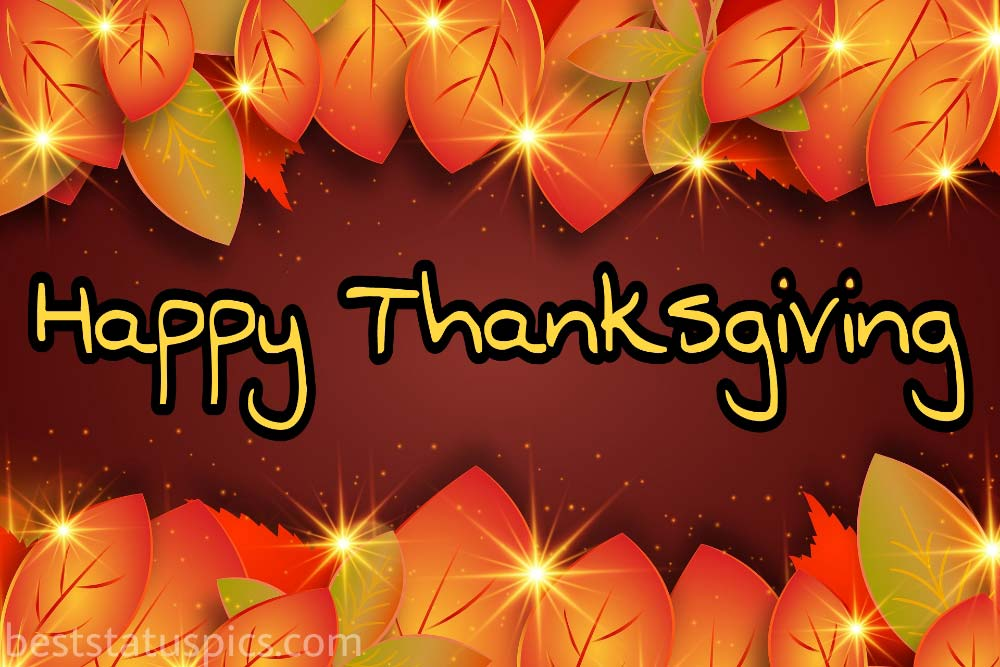 Happy Thanksgiving 2021 wishes card for whatsapp status