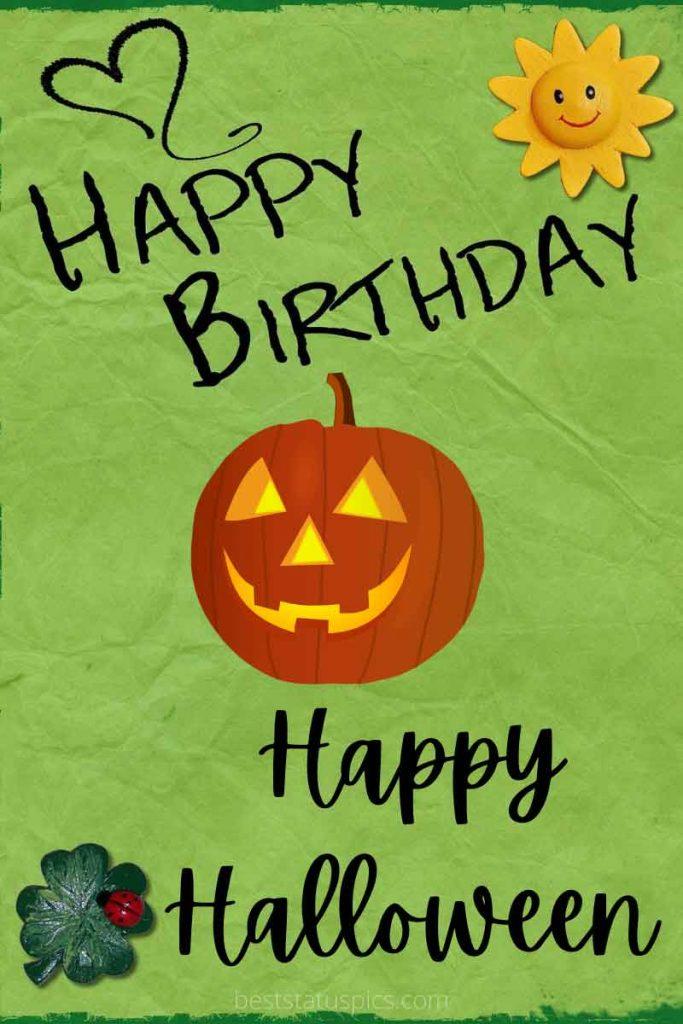 happy halloween birthday card 2021