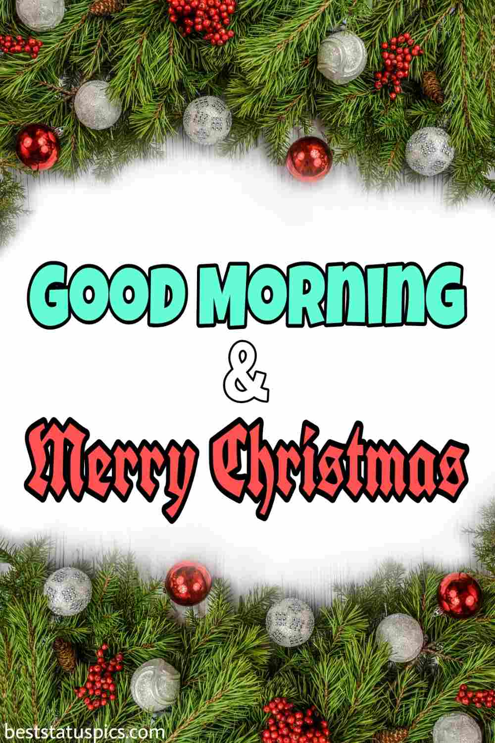Good Morning Merry Christmas 2022 greeting cards for friends