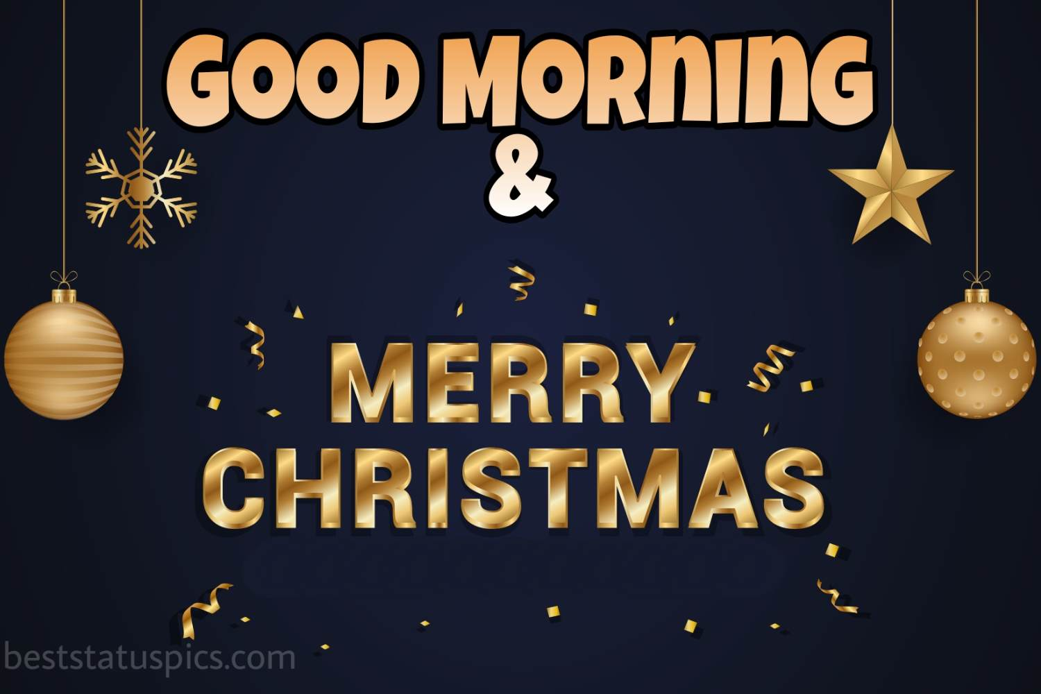 Good Morning Merry Christmas 2022 wishes images and card