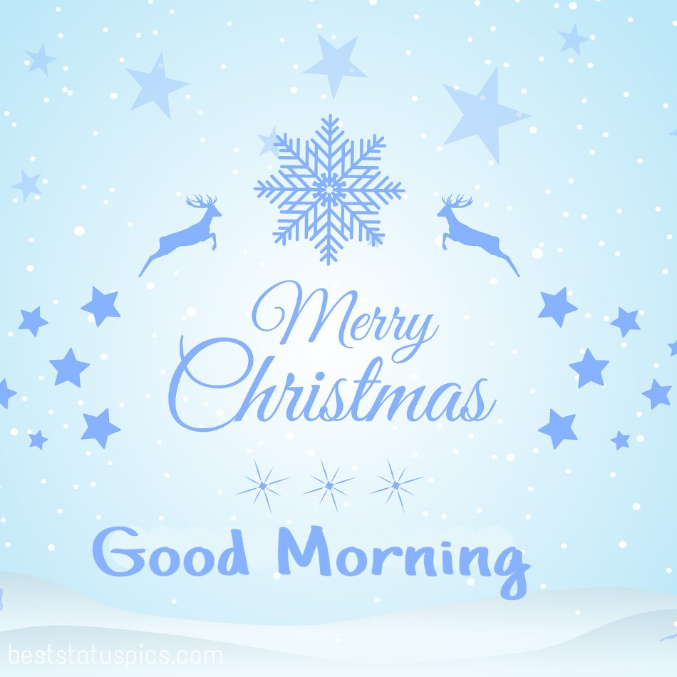 Good morning merry christmas 2022 greeting cards and wishes for friend