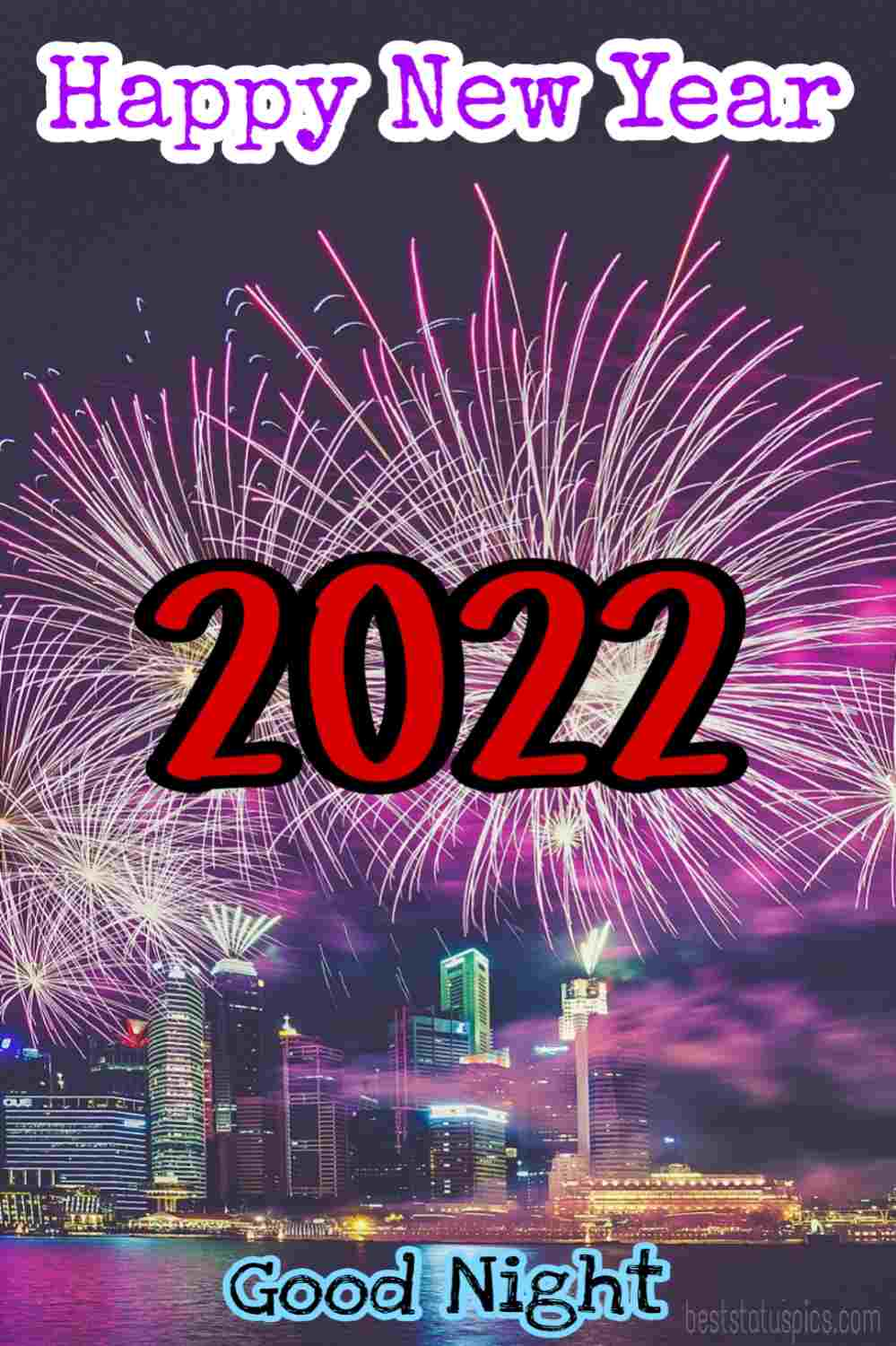 Happy new year 2022 and Good night HD wallpaper