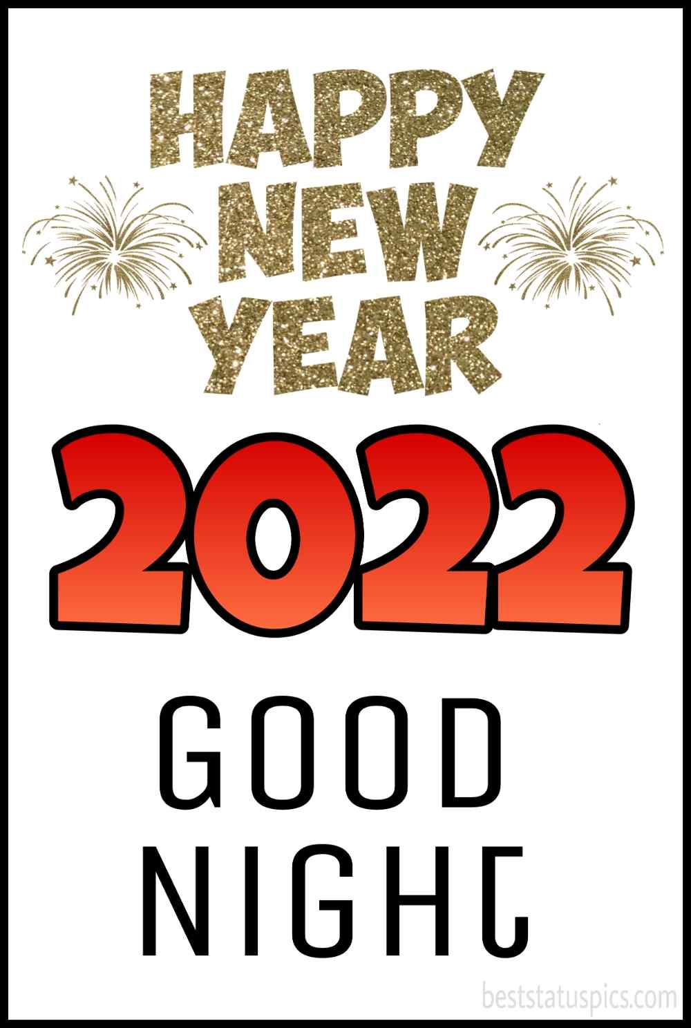 Happy new year 2022 and Good night greetings, card and ecard for friends and family