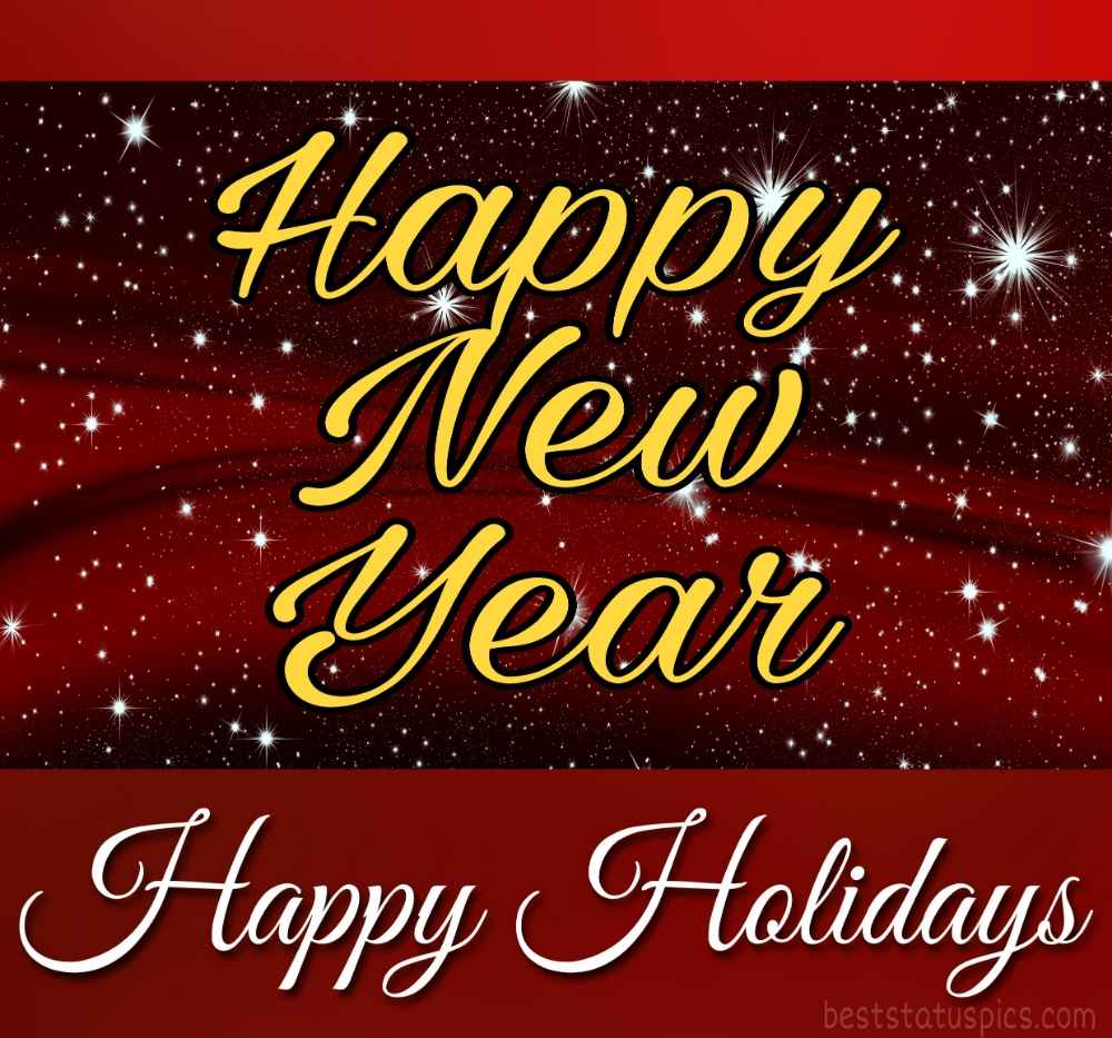 Happy New Year 2022 and Happy Holidays greeting cards for friends