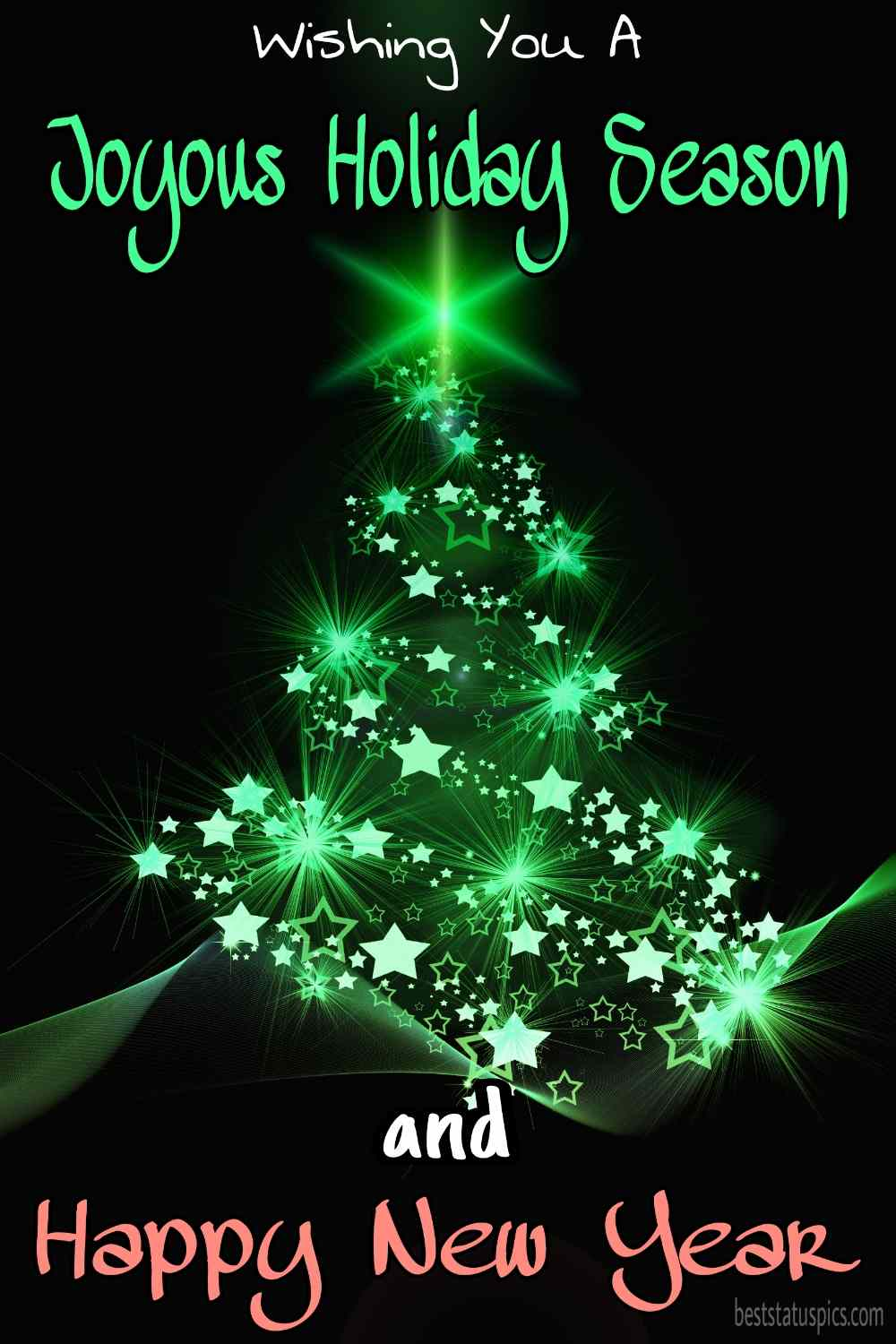 Happy Holidays and Happy New Year 2022 picture HD with Christmas tree for Instagram story