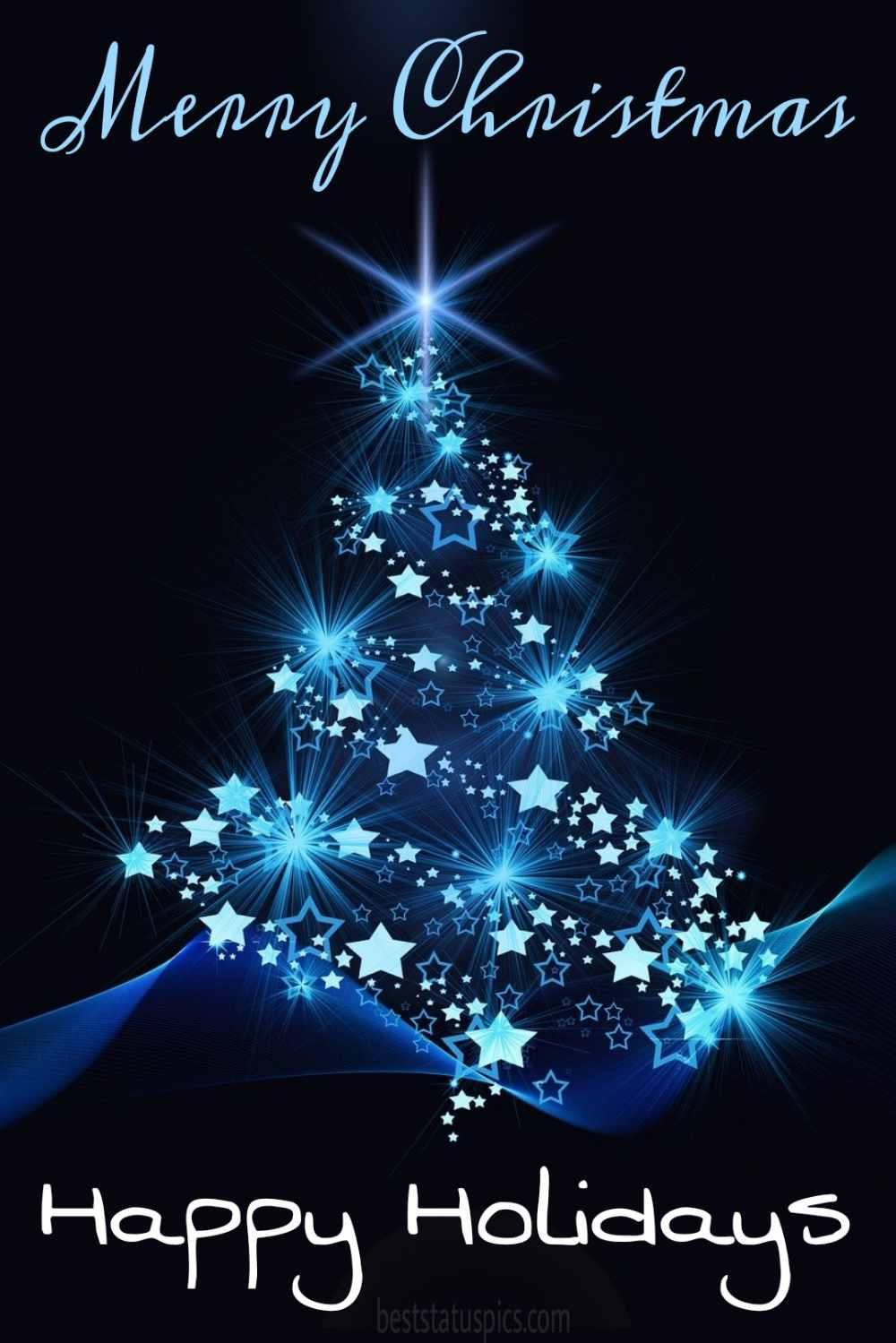 Happy Holidays Merry Xmas 2022 wishes images HD with Christmas tree for Instagram story
