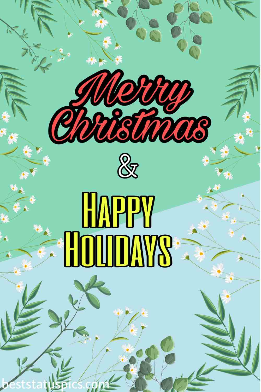 Merry Christmas and Happy Holidays 2022 greetings and cards for Pinterest