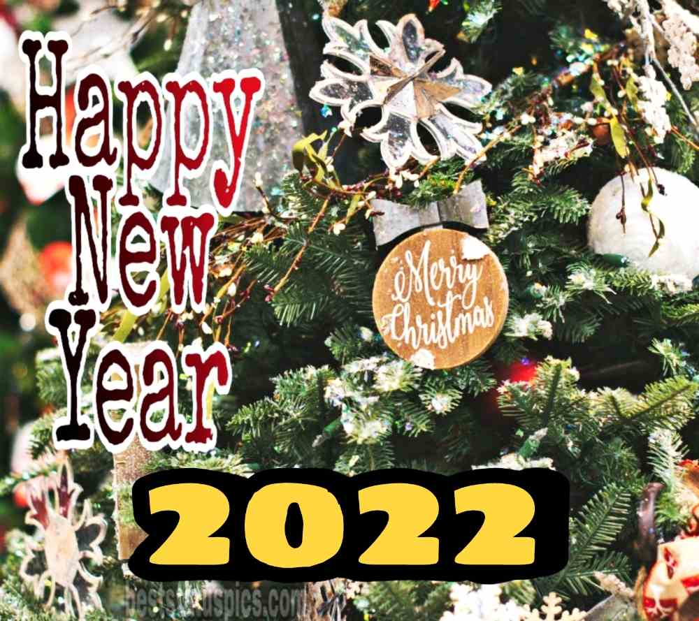 Merry Christmas and Happy New Year 2022 greeting photo for Facebook status