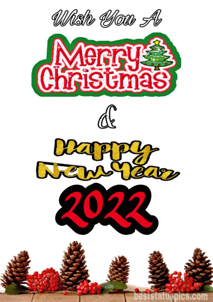 Happy New Year 2022 and Merry Christmas Greetings and images for Instagram story