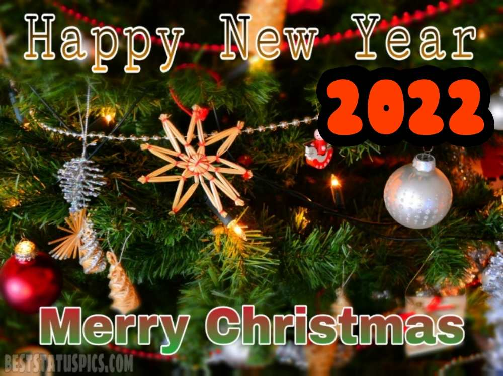 Merry Christmas and Happy New Year 2022 wishes images HD for friends