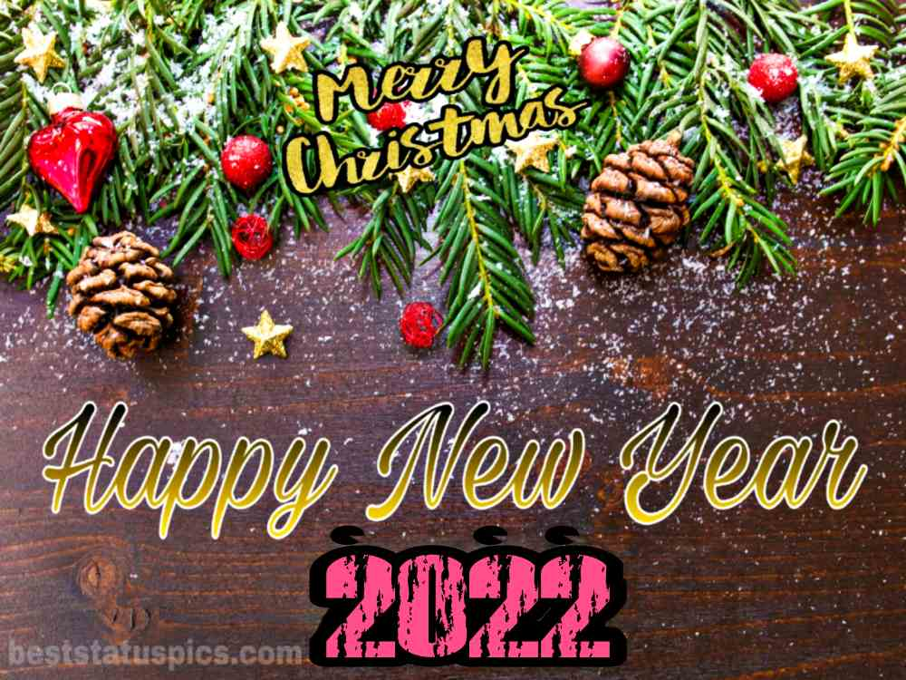 Merry Christmas and Happy New Year 2022 picture HD