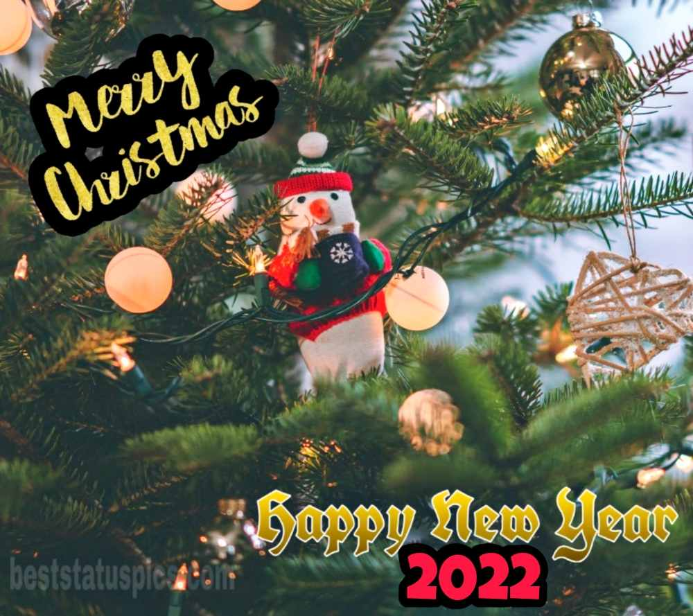 Beautiful Merry Christmas and Happy New Year 2022 images with santa
