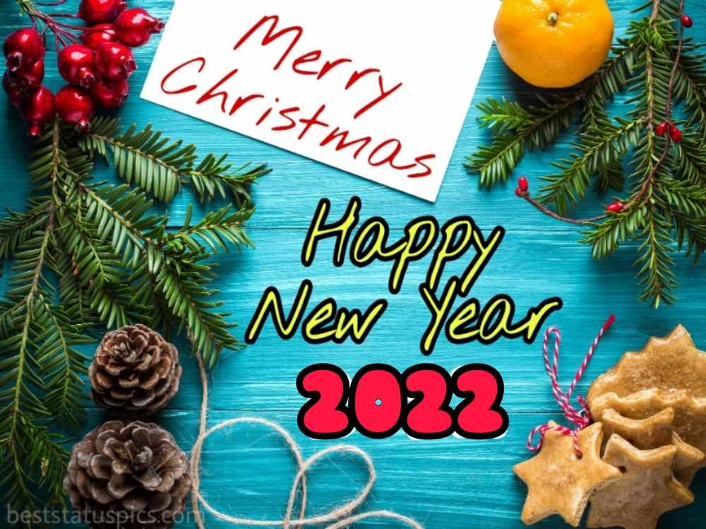 Merry Christmas and Happy New Year 2022 greetings, ecard and card for friends and family