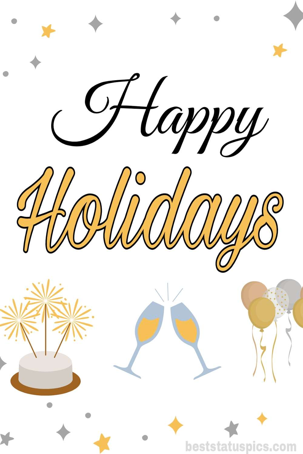 Happy holidays 2022 wishes cards for friends and Whatsapp DP