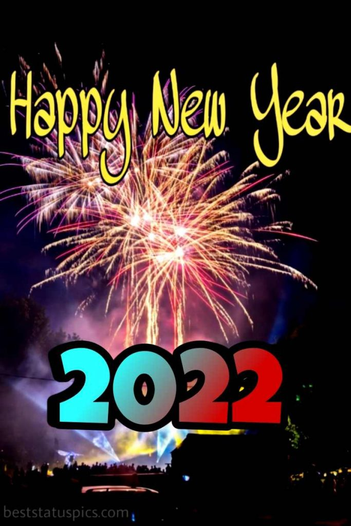 Best wishes of happy new year 2022 with firework images