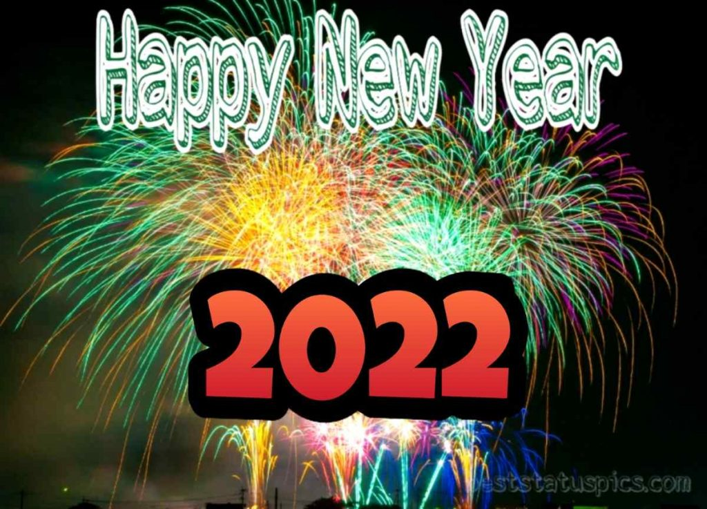 Happy new year 2022 wishes images with firework