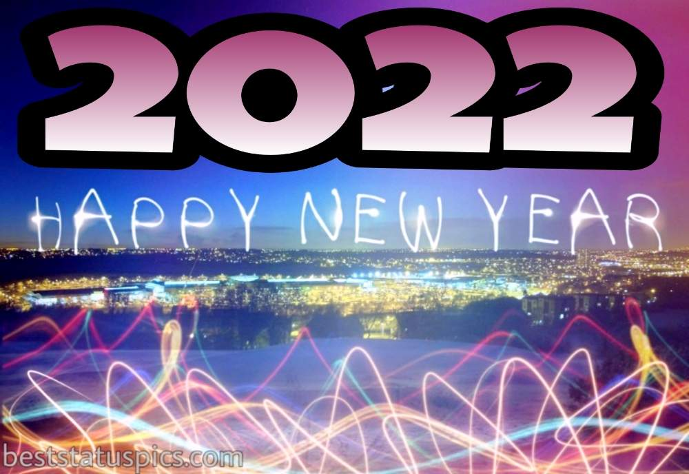 Beautiful Happy new year 2022 gift and picture HD