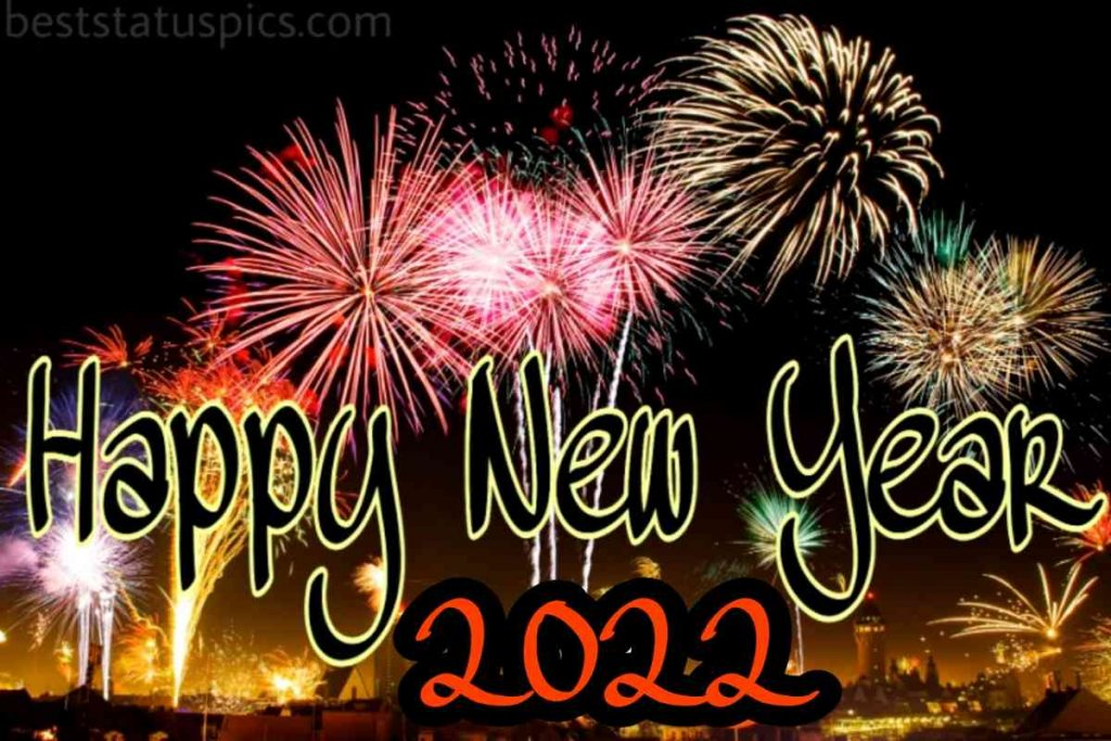 Nice Happy new year 2022 photo with firework