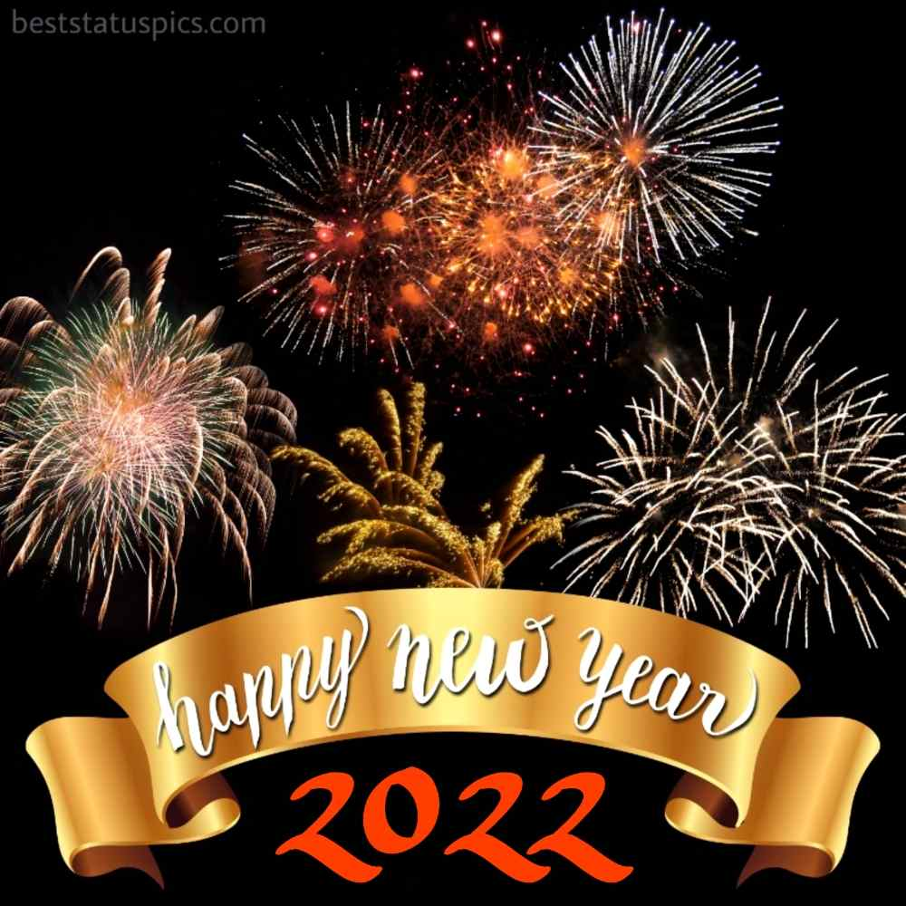 Happy new year 2022 images with firework for Instagram story