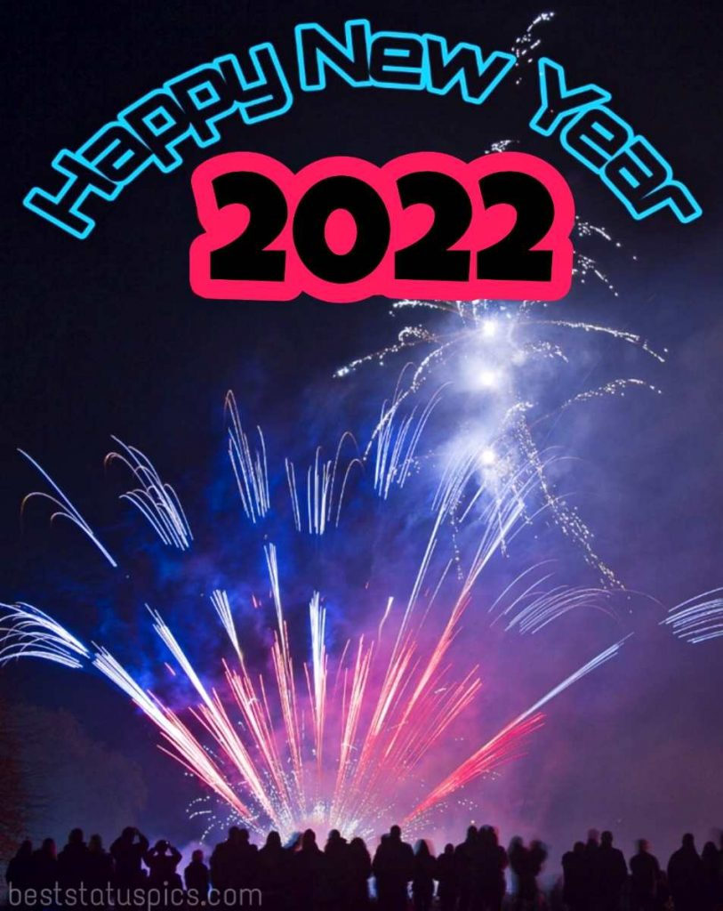 Happy new year 2022 wishes images HD with firework for Instagram story