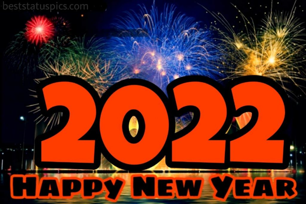 Happy new year 2022 greeting cards with firework
