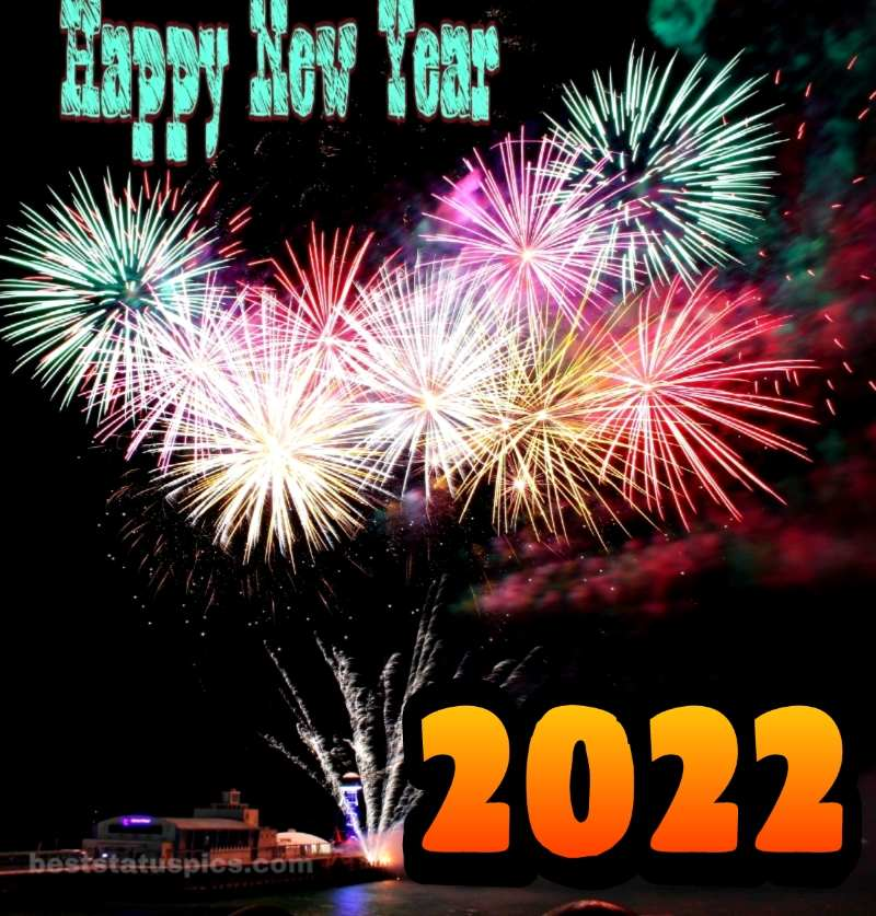 happy new year 2022 images with firework for family