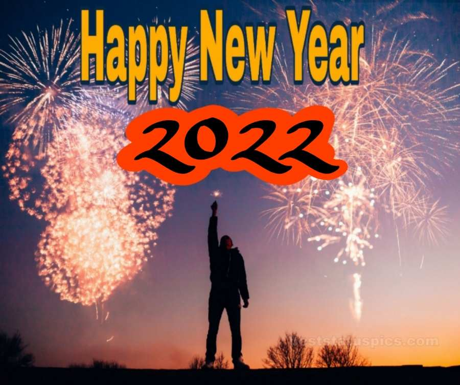 happy new year 2022 images HD with firework for friends