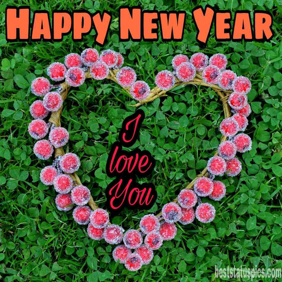 Romantic new year 2022 wishes images with love heart for jaan, gf and bf